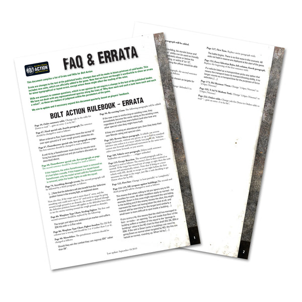 Bolt Action 2 FAQ