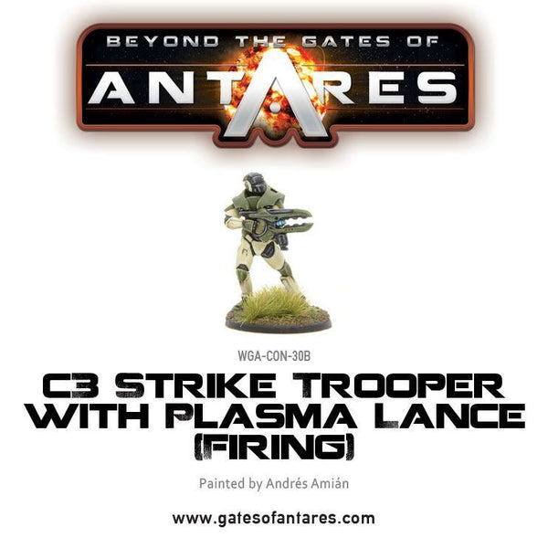 C3 strike trooper with plasma lance firing