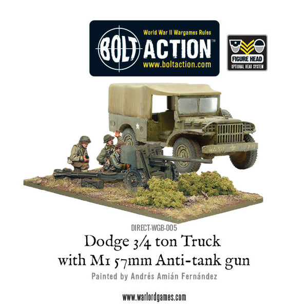Dodge 3/4 ton Truck with M1 57mm Anti-tank gun