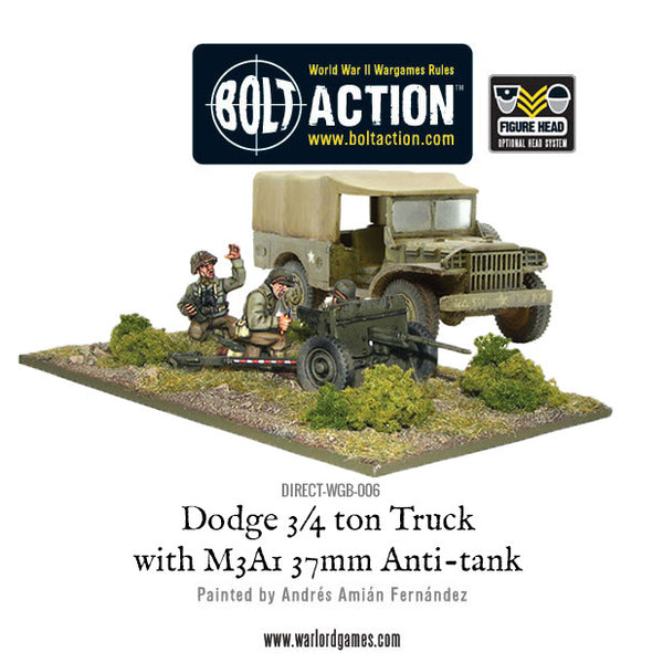 Dodge 3/4 ton Truck with M3A1 37mm Anti-tank gun