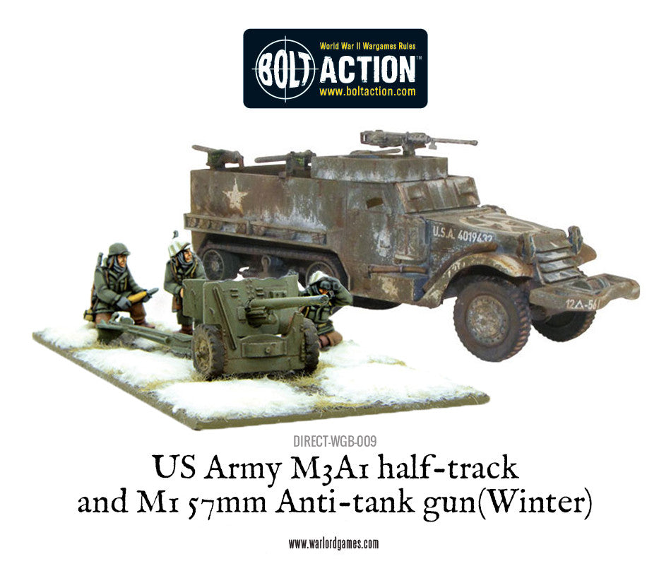 US Army M3A1 Half-track with M1 57mm Anti-tank gun (Winter)