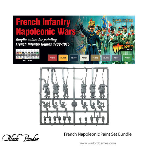 French Napoleonic paint set (8) with plastic French
