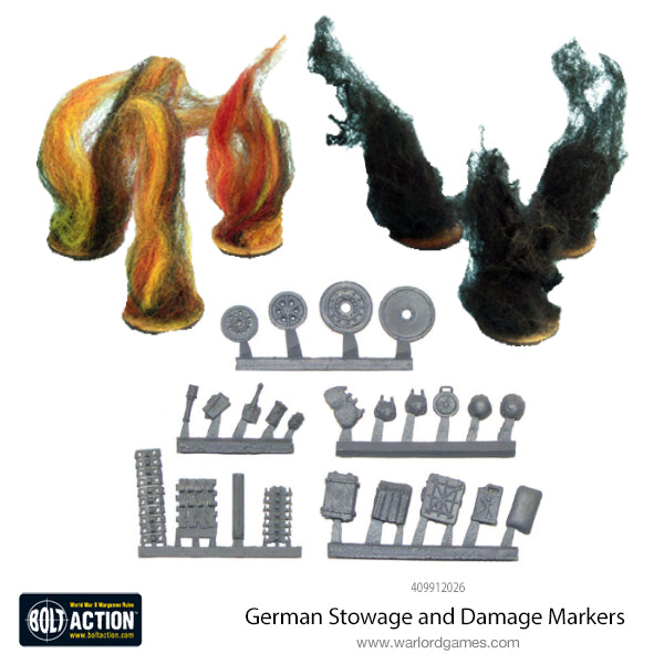 German Stowage and Damage Markers