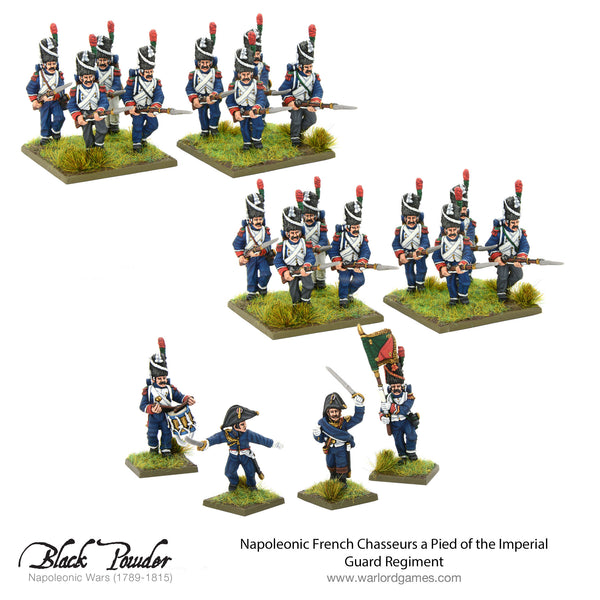 French Chasseurs a Pied of the Imperial Guard Regiment