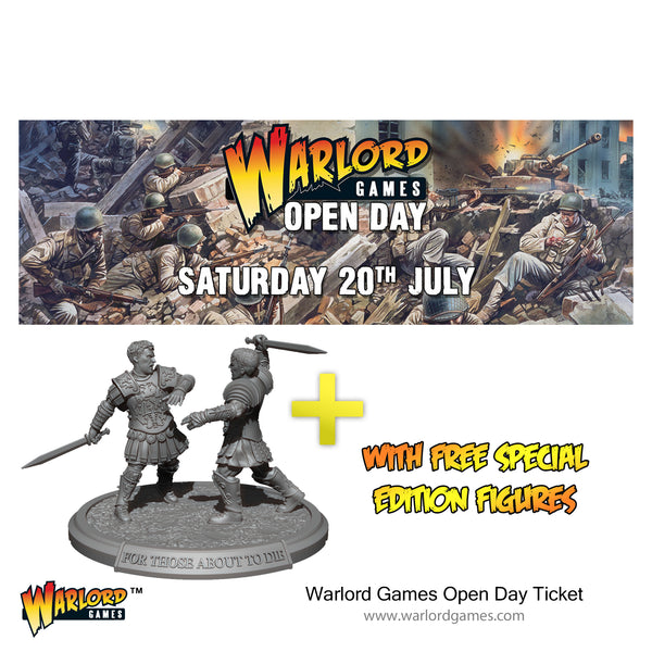 Warlord Games Open Day ticket 20th July 2019