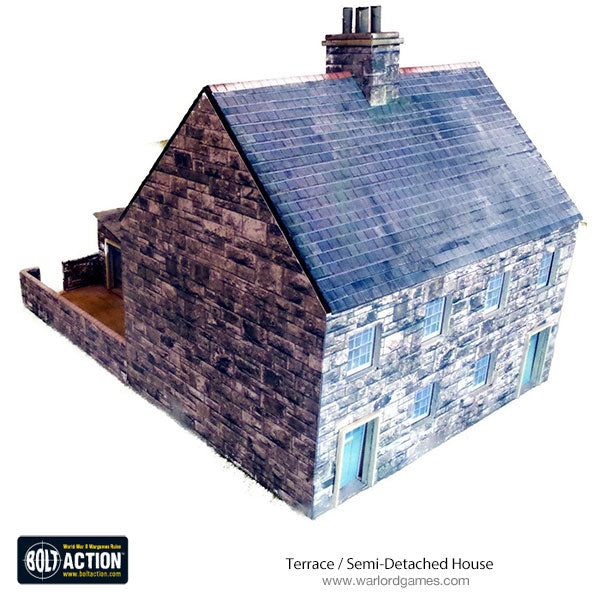 Terrace / Semi-Detached House 28mm (Brick) Photo-Realistic Kit