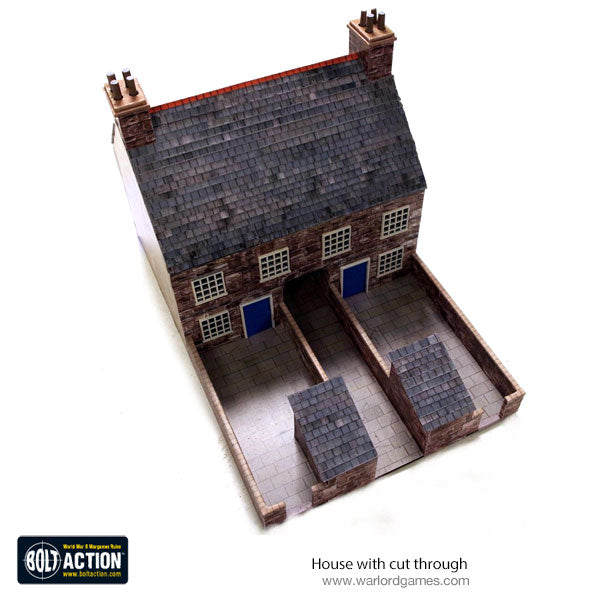 House with cut through 28mm (Brick) Photo-Realistic Kit