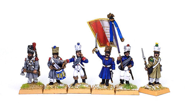 Late French Line Infantry 42 Fig Painted Set