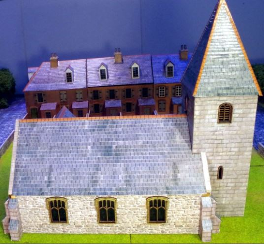 3 in 1 Church 28mm (Stone) Photo-Realistic Kit