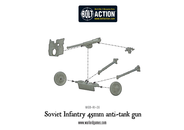 Soviet 45mm Anti-Tank Gun