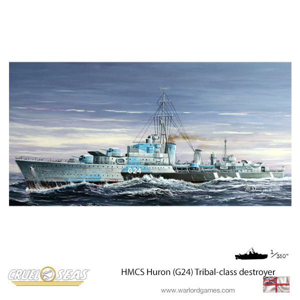 HMCS Huron (G24) Tribal-class destroyer 1944