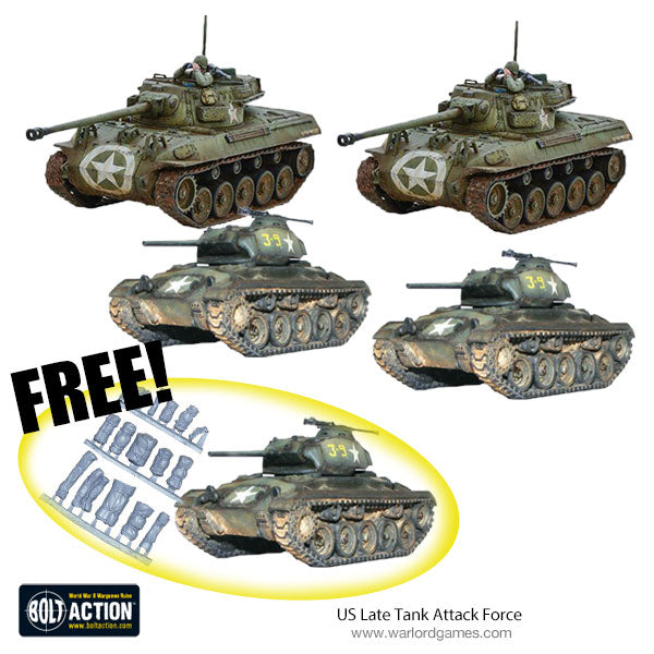 US Late Tank Attack Force (Chaffee & M18)