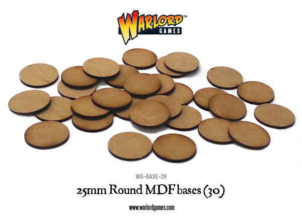 25mm Round MDF bases