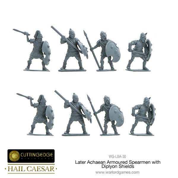 Later Achaean Armoured Spearmen with Diplyon Shield