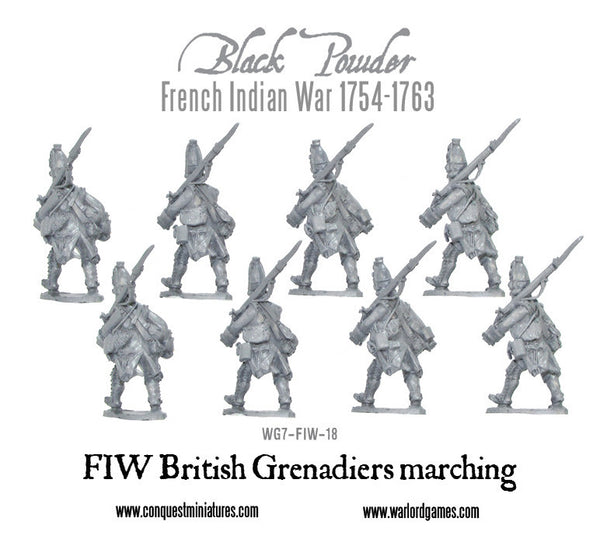 FIW British Grenadiers marching