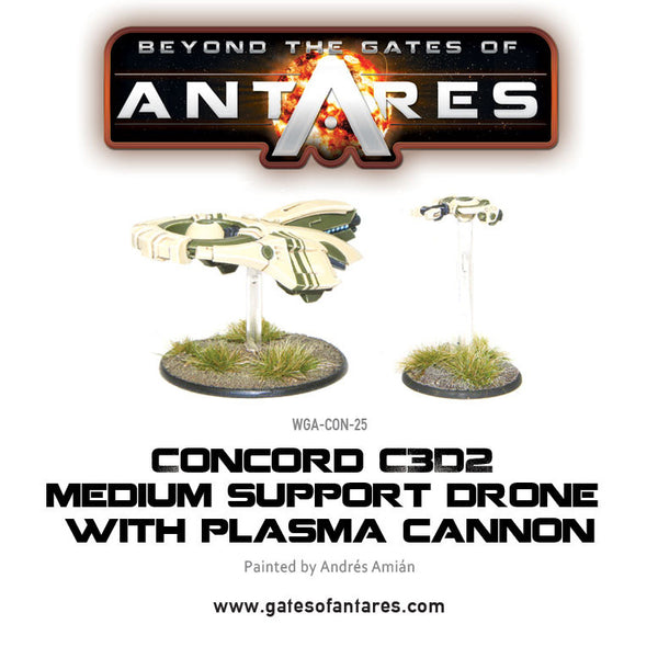 Concord C3D2 Medium Support Drone with Plasma Cannon