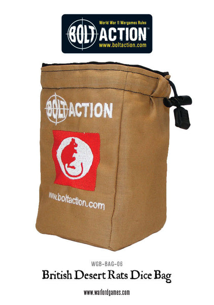 Bolt Action Desert Rat Dice Bag & Dice