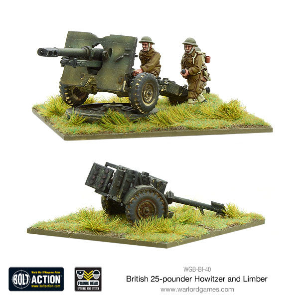 British 25 pdr Howitzer & Limber