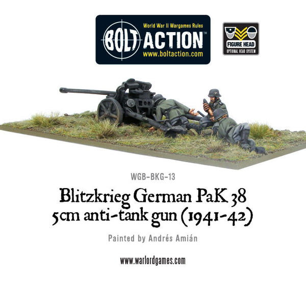 German 50 Mm Anti Tank Gun: Blitzkrieg German Pak 38 5cm Anti-tank Gun (1941-42