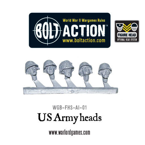 US army figure heads