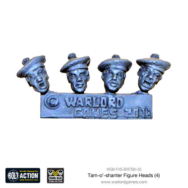 Tam-o'-shanter Figure Heads (4)