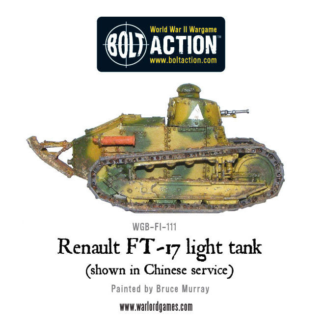 Renault Ft 17 Light Tank Warlord Games