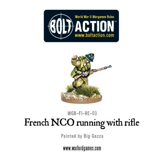 French NCO Running with Rifle