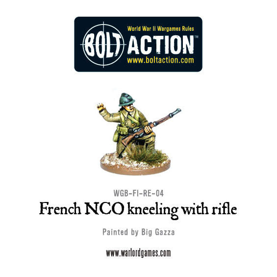 French NCO Kneeling with Rifle