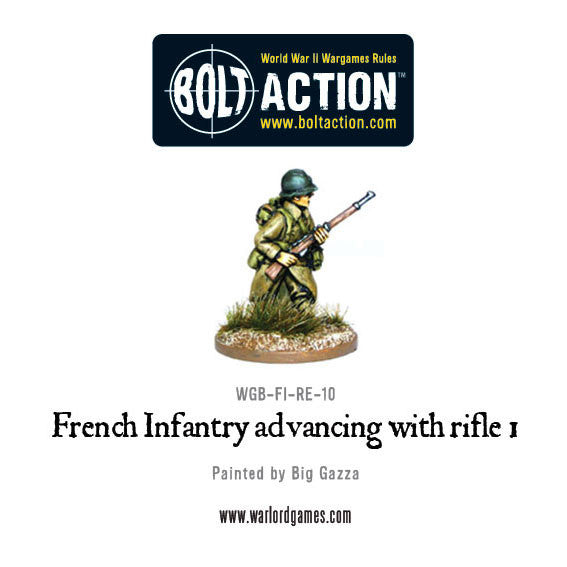 French Infantry Advancing with Rifle 1