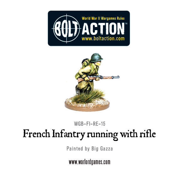French Infantry Running with Rifle (1)