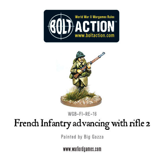 French Infantry Advancing with Rifle 2