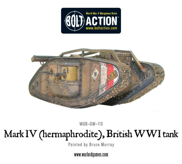 Mark IV (hermaphrodite) British WWI tank