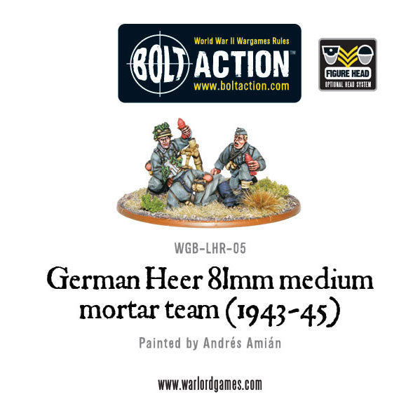 German Heer 81mm medium mortar team (1943-45)