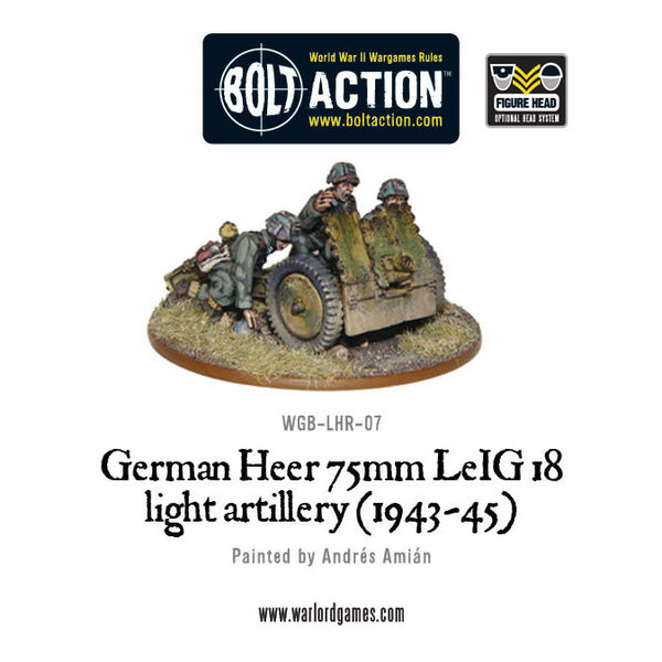 German Heer 75mm leIG 18 light artillery (1943-45)