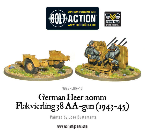 German Heer 20mm flakvierling 38 AA-gun (1943-45)