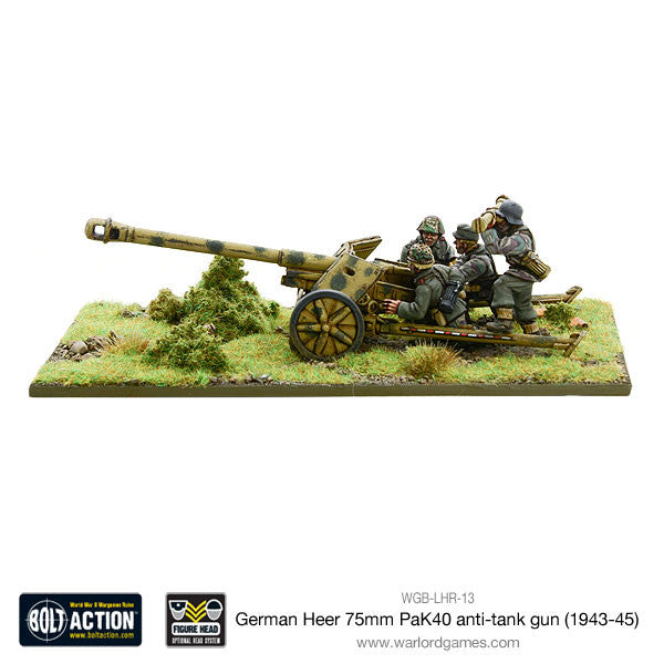 German Heer 75mm PaK 40  anti-tank gun (1943-45)