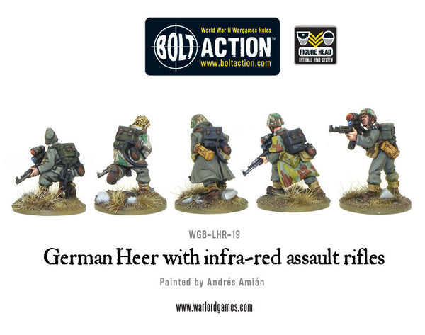 German Heer with infra-red assault rifles