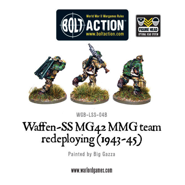 Waffen-SS MG42 MMG team redeploying (1943-45)