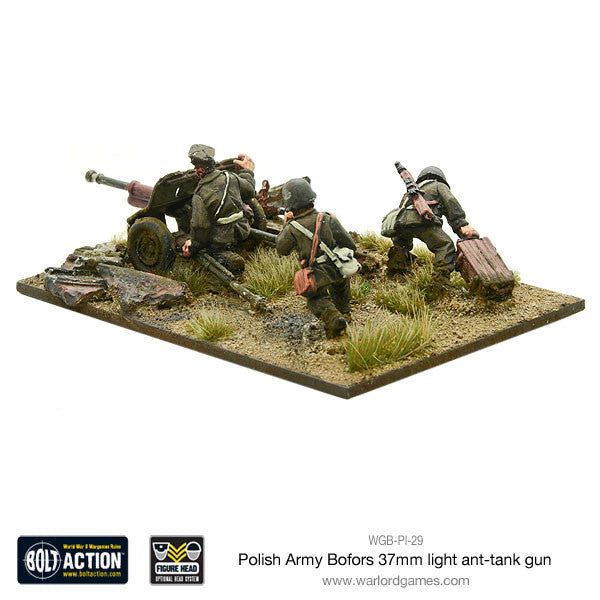 polish army bofors 37mm anti tank gun warlord games