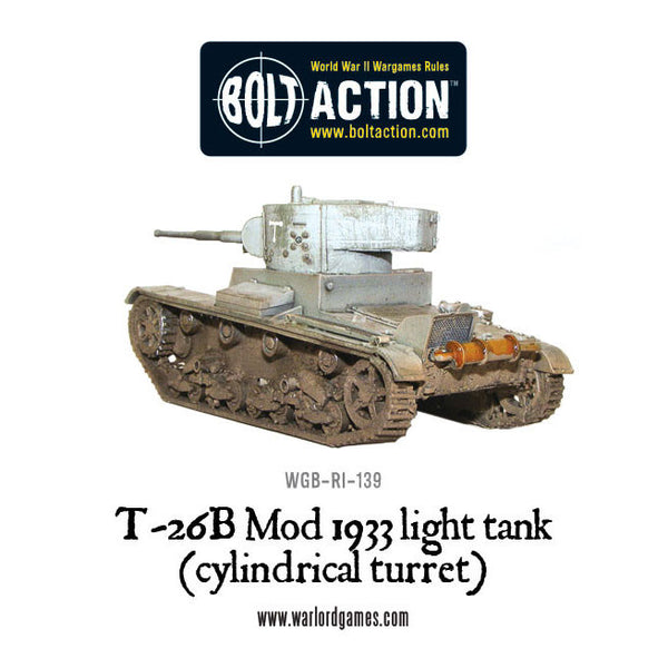 T-26B Mod 1933 light tank (cylindrical turret)