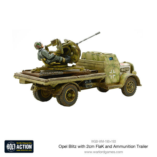 Opel Blitz with 2cm FlaK & Ammunition Trailer