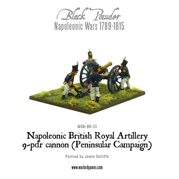 Napoleonic British Royal Artillery 9-pdr cannon (Peninsular Campaign)