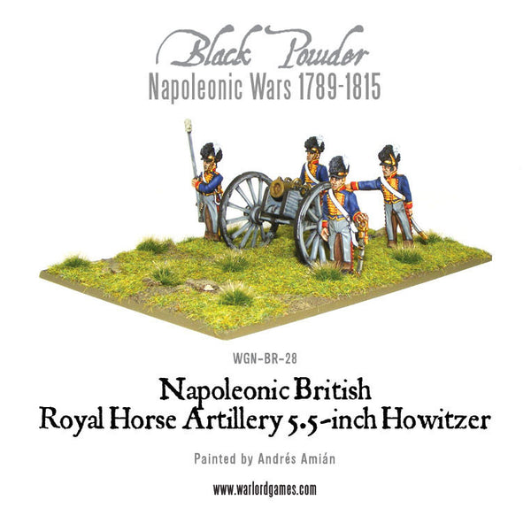 Napoleonic British Royal Horse Artillery 5.5-inch Howitzer