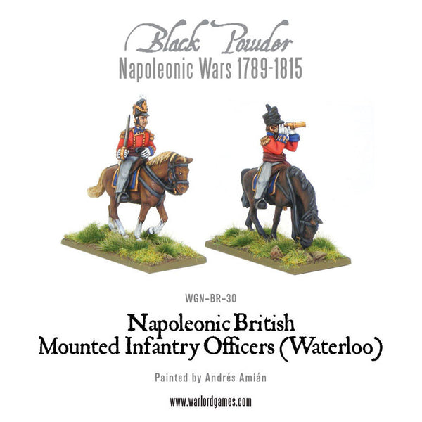 Mounted Napoleonic British Infantry Officers (Waterloo campaign)