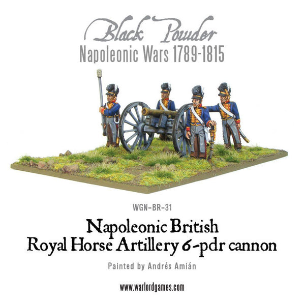 Napoleonic British Royal Horse Artillery 6-pdr cannon