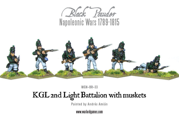 KGL 2nd Light Battalion with muskets