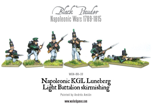 Napoleonic KGL Luneberg Light Battalion skirmishing