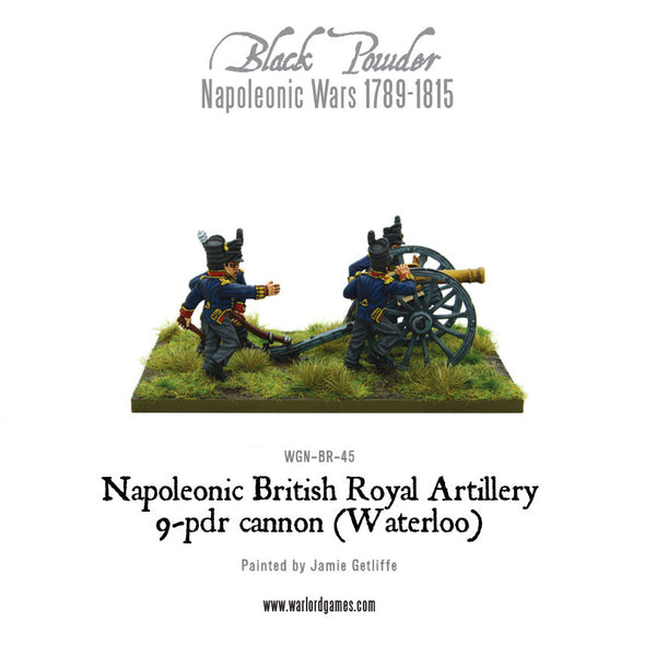 Napoleonic British Royal Artillery 9-pdr cannon (Waterloo Campaign)
