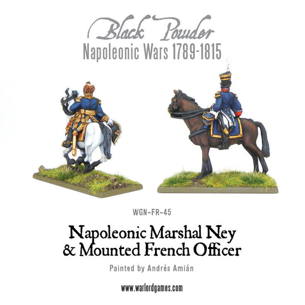 Napoleonic Marshal Ney & Mounted French Officer
