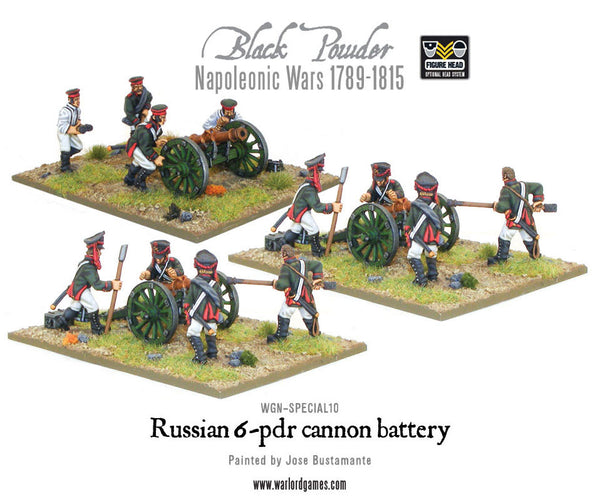 Napoleonic Russian 6-pdr battery